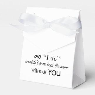 Gastgeschenk Hochzeits-Zelt Geschenkschachteln