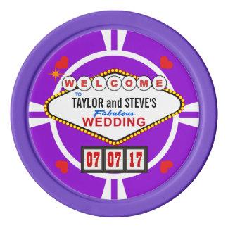 Gastgeschenk Hochzeitvegas-Kasino-Poker-Chips Poker Chips