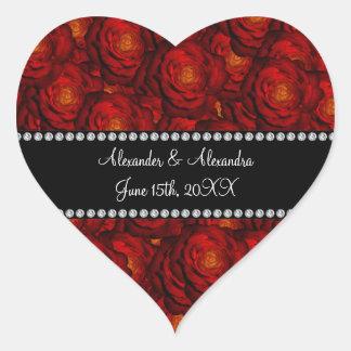 Gastgeschenke Hochzeits-Rote Rosen Aufkleber