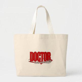 Gastroenterologe DOKTOR LOGO BIG RED Jumbo Stoffbeutel