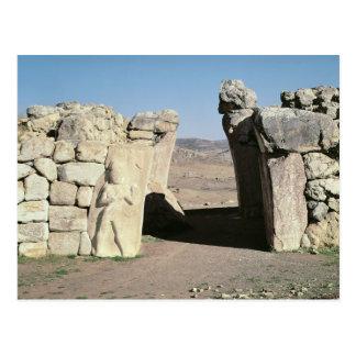 Gate des Königs von den Wänden von Hattusas Postkarte
