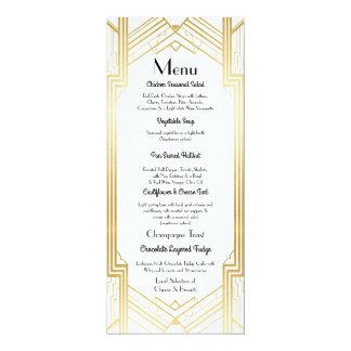 Gatsby Menü-Hochzeits-Empfangszwanziger jahre Karte