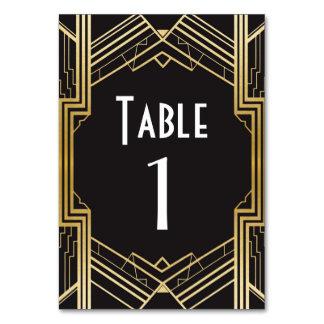 Gatsby Tischnummerzwanziger jahre, die Hochzeit Karte