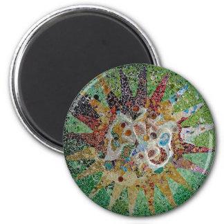 Gaudi Fliesen Runder Magnet 5,1 Cm