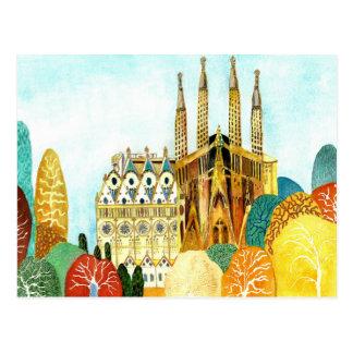 Gaudi s Barcelona Postkarte