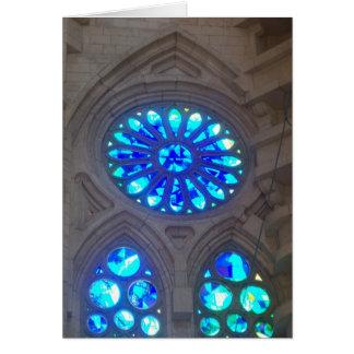 Gaudi - Sagrada Familia Buntglasfenster Karte
