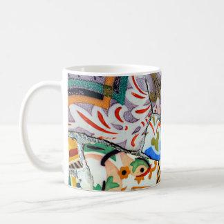 Gaudis Park Guell Mosaik-Fliesen Kaffeetasse