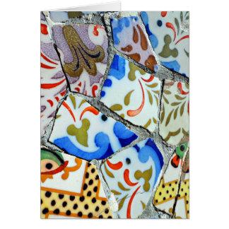 Gaudis Park Guell Mosaik-Fliesen Karte