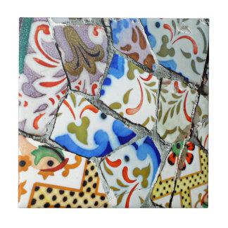 Gaudis Park Guell Mosaik-Fliesen Kleine Quadratische Fliese
