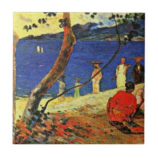 Gauguin - eine Küste Kleine Quadratische Fliese