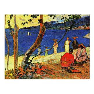 Gauguin - eine Küste Postkarte