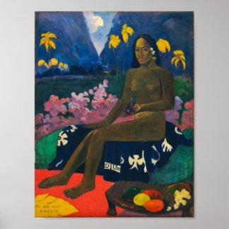 Gauguin Samen des Areoi Poster