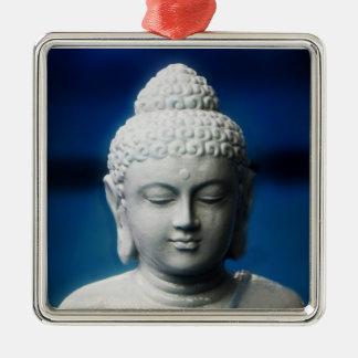 Gautama Buddha erleuchtete ein Quadratisches Silberfarbenes Ornament
