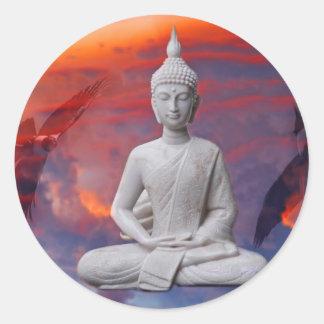 Gautama Siddhartha Buddha Runder Aufkleber