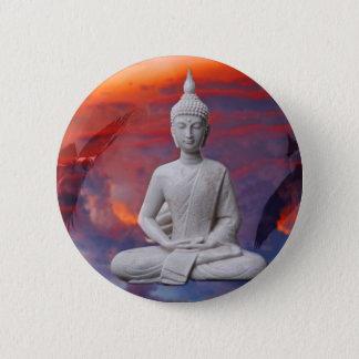 Gautama Siddhartha Buddha Runder Button 5,1 Cm