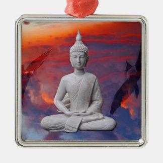 Gautama Siddhartha Buddha Silbernes Ornament