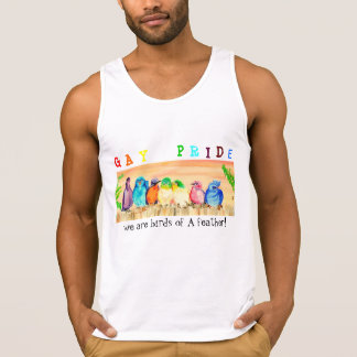 Gay Pride-Behälter-Spitze - Birds of a Feather Tank Top
