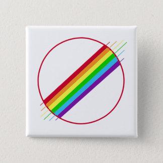 Gay Pride-Button Quadratischer Button 5,1 Cm