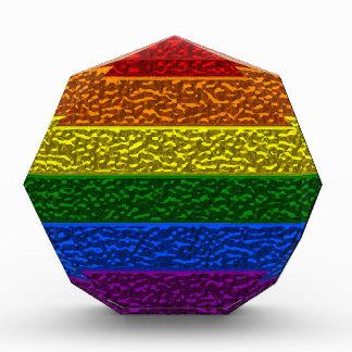 Gay Pride-Chrom-Flagge Acryl Auszeichnung