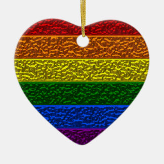 Gay Pride-Chrom-Flagge Keramik Ornament