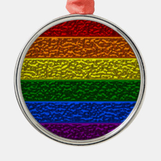 Gay Pride-Chrom-Flagge Silbernes Ornament
