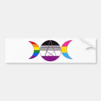 Gay Pride Demi Wannen-Göttin-Symbol Autoaufkleber