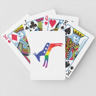 Gay Pride-Demokrat-Esel Bicycle Spielkarten