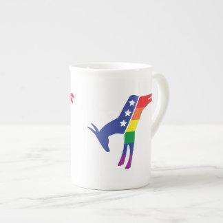Gay Pride-Demokrat-Esel Porzellantasse