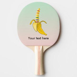 Gay Pride, der heraus Banane kommt Tischtennis Schläger