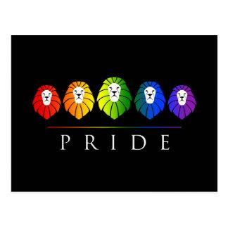 Gay Pride der Löwen - LGBT Postkarte