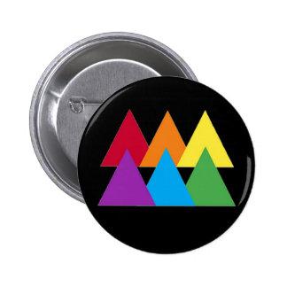 Gay Pride-Dreieck-Button Runder Button 5,7 Cm