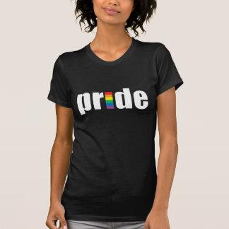 Gay Pride-dunkle Damen-Petite T - Shirt
