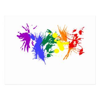 Gay Pride-Farbe Postkarte