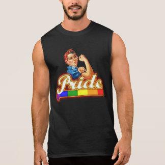 Gay Pride-Farben können wir es mit Stolz tun Ärmelloses Shirt