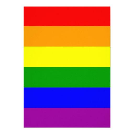 Gay Pride-Flagge Personalisierte Ankündigungskarten