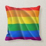 GAY PRIDE-FLAGGEN-GEWELLTER ENTWURF KISSEN