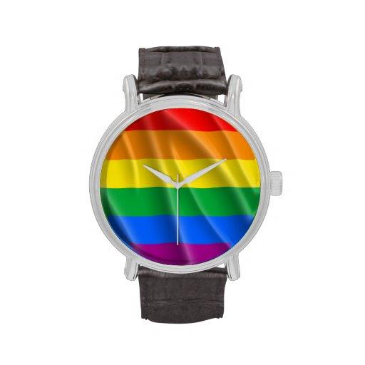 GAY PRIDE-FLAGGEN-GEWELLTER ENTWURF - .PNG HANDUHR
