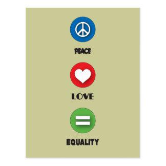 Gay Pride-FriedensLiebe-Gleichheit Postkarte