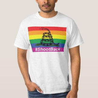 Gay Pride Gadsen Klapperschlangen-Flaggen-Trieb T-Shirt