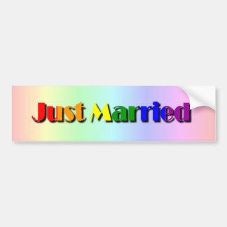 Gay Pride-gerade verheirateter Autoaufkleber