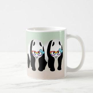 Gay Pride-Hipster-Pandas Kaffeetasse