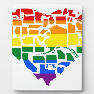Gay Pride in allen 50 Staaten Fotoplatte