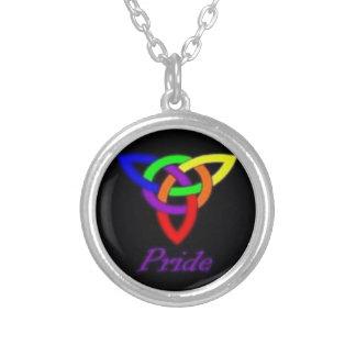 Gay Pride-keltische Knoten-Silber-Halskette Versilberte Kette