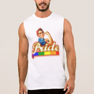 Gay Pride können wir ihn mit Stolz tun Ärmelloses Shirt