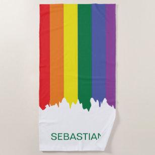 Gay Pride Rainbow Paint Strandtuch