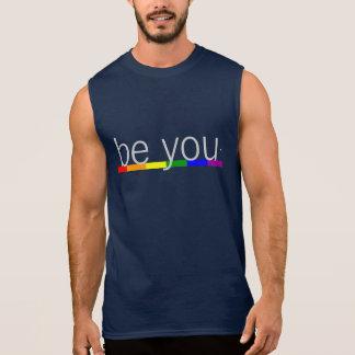 Gay Pride-Regenbogen-Flagge ist Sie Ärmelloses Shirt