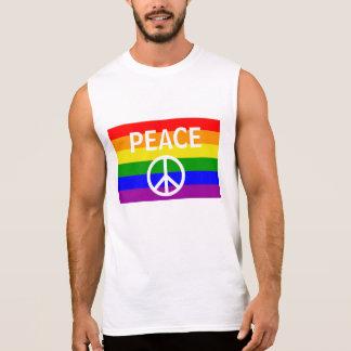 Gay Pride-Regenbogen-Flaggen-Frieden Ärmelloses Shirt