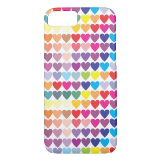 Gay Pride-Regenbogen-Herzen iPhone 8/7 Hülle