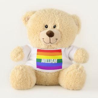 Gay Pride-Regenbogen LGBT personalisiert Teddybär