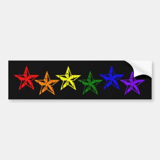 Gay Pride-Regenbogen-Sterne Auto Aufkleber